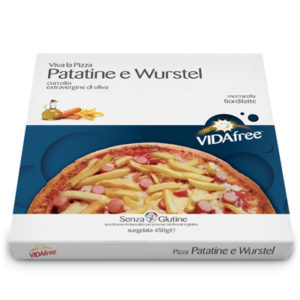 pizza senza glutine patatine wurstel